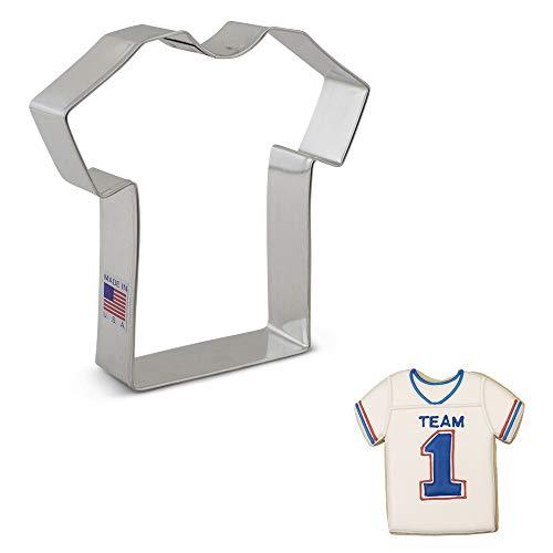 Ann Clark Cookie Cutters Cortador de galletas camiseta / camiseta deportiva / uniforme médico grande - 11,5 cm - Acero fabricado en EE.UU.