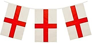 Toyland 4 Meter St George PVC Bunting 11 Flags Perfect for British Celebrations