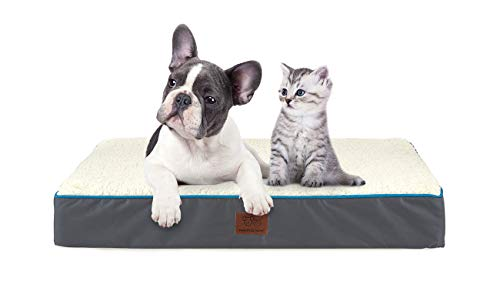 SunStyle Home Orthopedic Foam Dog Bed for Medium & Large Dogs Up to 75lbs with Waterproof Removable Cover, Mattress Pet Mat Bed for Dogs & Cats - Orthopedic Egg Crate Foam Platform Beds launched Newly pets