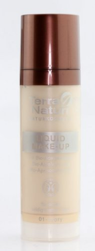 Terra Naturi Naturkosmetik Liquid Make-Up für einen seidig-matten Teint Nr. 01 Ivory Inhalt: 30ml Make Up Foundation