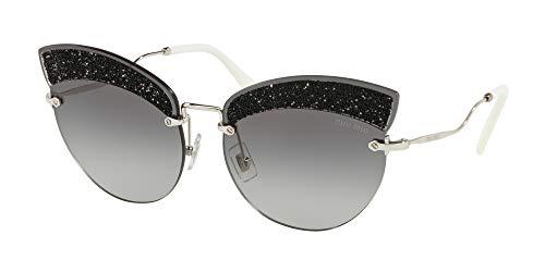Miu Miu Damen MU58TS Sonnenbrille, Silver (Silver/Grey Gradient), 65