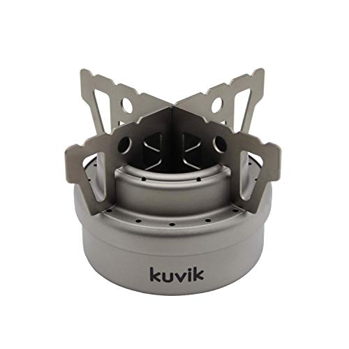 Camping Ultralight and Compact Stove for Backpacking and Survival Kuvik Titanium Solid Fuel Stove