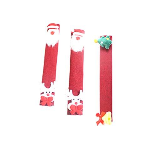 STOBOK 3 st jul kylskåp handtag skydd apparathandtag skydd med jultomten ren klocka docka juldekorationer för mikrovågsugn diskmaskin dörrhandtag
