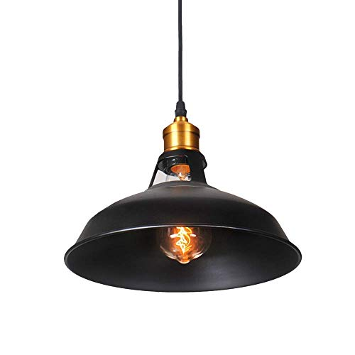 SISVIV Lampada a Sospensione Vintage Industriale Lampadario Cucina in Metallo Lampada Pendente Rustico per Ristorante Bar Caffè E27 Ruggine