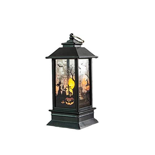 Wood.L Retero Halloween Deko LED Lampe Hängende Laterne Flamme Licht Für Halloween Home Tischdekoration Kürbis