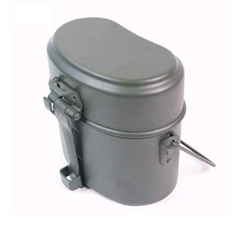 WWII Alemania Militar 3 piezas en 1 utensilios de cocina de camping Cook Set Senderismo Supervivencia Fiambreras