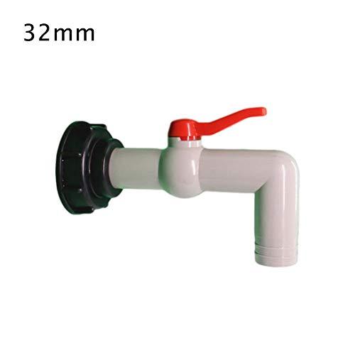 90 ° Schlauchanschluss & Adapter für S60 6 Tonnen IBC Ventil Regentonnen/Wasserhahn/Absperrhahn für Ubliche Tankventil/Tankventil (DN40 / 50) mit Grobem Gewinde