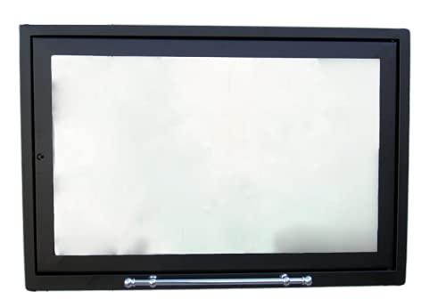 Puerta con cristal cerámico 760° para chimenea, estufa de leña, puerta de...
