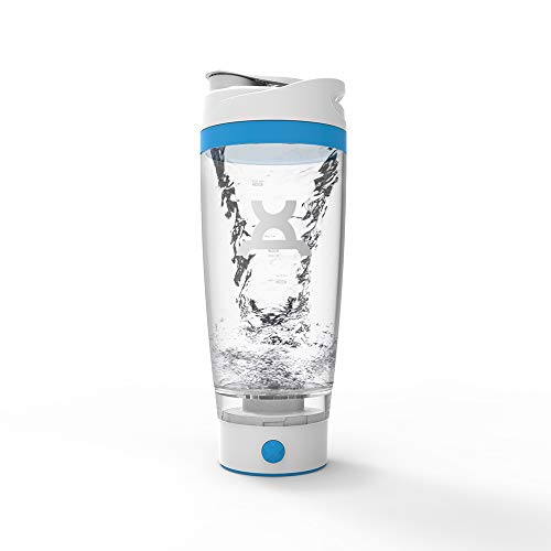 PROMiXX iX Battery Powered Electric Protein Shaker - Beautifully Engineered Mixer Bottle with X-Blade Technology for Smooth Shakes/Supplements - 600ml