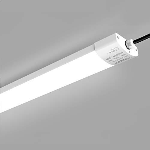 LED Feuchtraumleuchte 36W 120CM für Bad Keller Garage Feuchtraum Büro, LED Feuchtraumlampe Wannenleuchte Leuchte Röhre, Neutralweiß 4000K Wasserfest IP65 1er-Pack