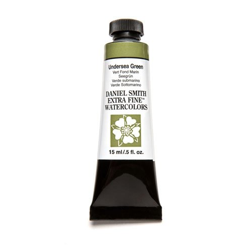 DANIEL SMITH 19093 Extra Fine Watercolor 15ml Paint Tube, Undersea Green