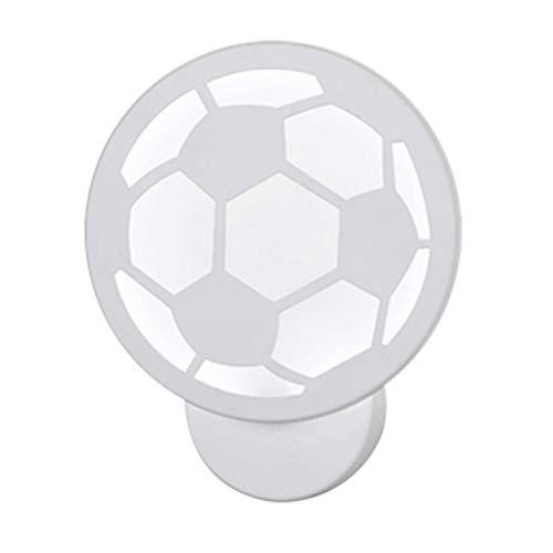 OSALADI LED 12w Wandleuchten Nordic Wandleuchte lampen fußball Form acryl nachttischlampe (weiß)