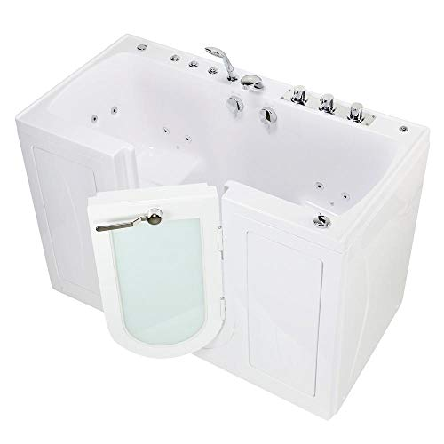 Great Deal! Ella OA3252H-L Monaco Acrylic Hydro Massage Walk-in Bathtub with Left Outward Swing Door...