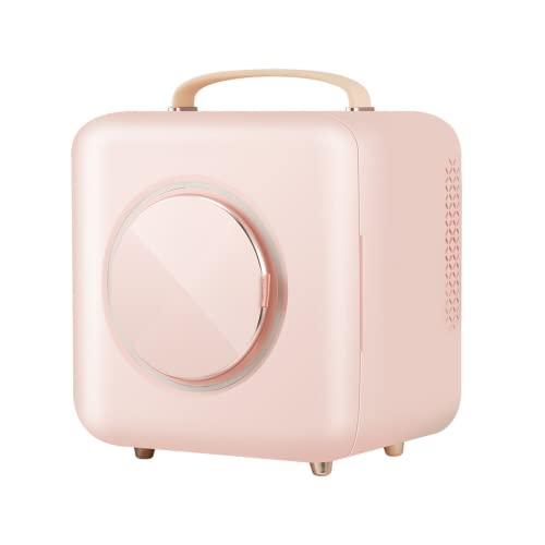 Mxsnow Refrigerador para El Cuidado De La Piel Snjiaheim Calentador De Refrigeración Portátil Refrigerador De Maquillaje El Refrigerador Cosmético De Belleza Es Muy -Pink