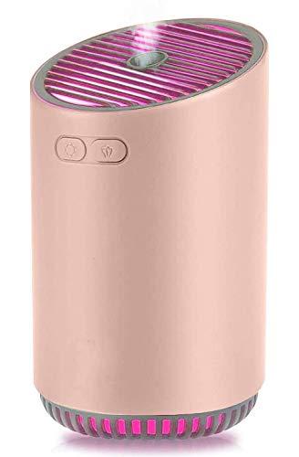 UWY Difusor de Aceite Esencial inalámbrico, Mini humidificador de Viaje Humidificador de Niebla fría para Dormitorio, automóvil, Oficina, Apagado automático, Rosa
