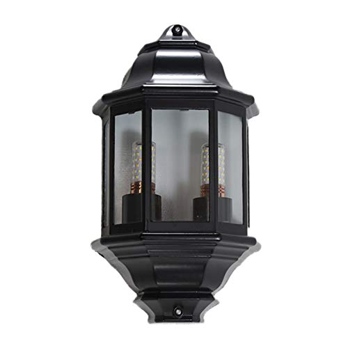 Precio de fábrica 2-ligero europeo exterior linterna linterna luz moderna aluminio metal...