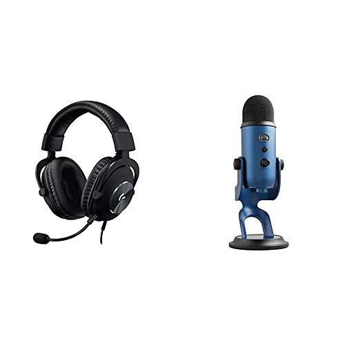 Logitech G Pro Gaming Headset with Blue Yeti USB Microphone, Midnight Blue