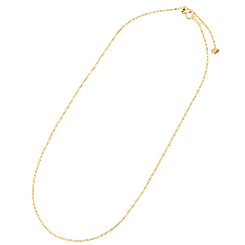 [フェアリーカレット] 24金ネックレス K24 2面喜平チェーン 日本製 純金 検定印 3.65gUp 45cm スライドアジャスター付