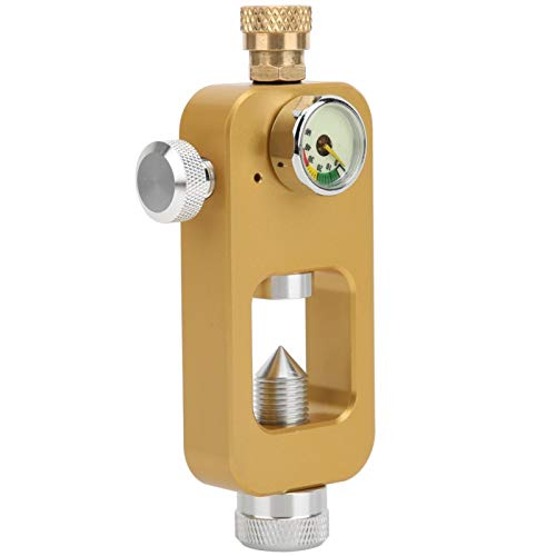 DAUERHAFT Adaptador de Botella de oxígeno antioxidante tamaño pequeño, para Buceo, para Botella de oxígeno(Golden)