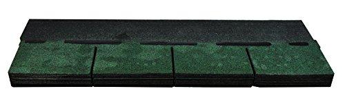 Bitumenschindeln Dachschindeln Rechteck Schindel Dachpappe Bitumen grün 2,32 m²