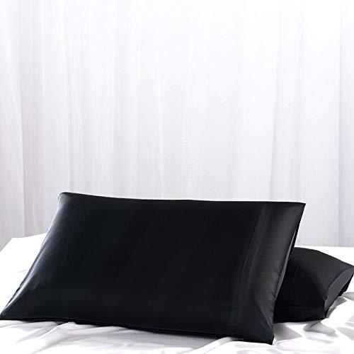 LDGGS Pack de Almohadas, 2 Fundas de Almohada de Seda Funda de Almohada Suave, Lisa y Sedosa, fácil de Lavar, Almohadas de Calidad estándar para hoteles