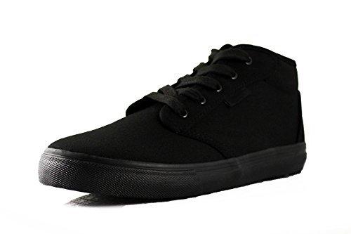 TK's Cheryl Slip Resistant Black Sunbrella Mid Top Water Resistant Non Slip Waitress Shoes (5.5)
