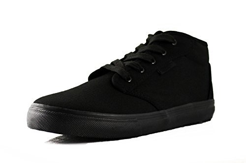Townforst Cheryl Slip Resistant Black Sunbrella Mid Top Water Resistant Non Slip Waitress Shoes (8.5)