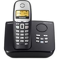 Siemens Gigaset A165, Schnurloses DECT-Telefon mit Anrufbeantworter, beleuchtetem Display und Telefonbuch