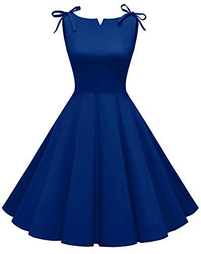 Vestido Vintage Azul Marca MUADRESS