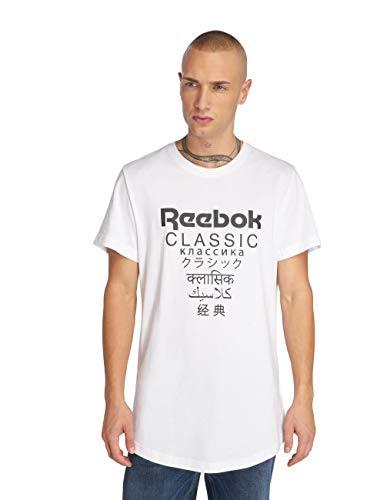 Reebok GP Unisex Longer Camiseta Hombre Blanco XS (X-Small)