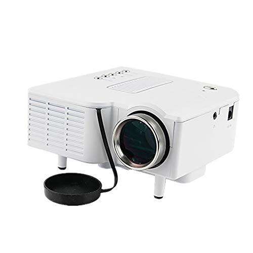 QLPP Projektor, Mini Portable Projector, mit 80Inche Display, VGA/AV/USB/SD-Eingang, für Video/Film/Spiel, Heimkino-Videoprojektor