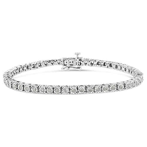 Miracle-Set Diamond Tennis Bracelet