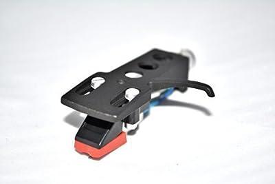 Black Turntable Headshell Mount with cartridge for Technics SL1200, SL1200 Mk2, SL1210, SL1210 Mk2, SL1200 Mk5, SL1210 Mk5,SL1600 Mk2, SL1610 Mk2, SL1700 Mk2, SL1710 Mk2, SL1800 Mk2, SL1810 Mk2 Turntables