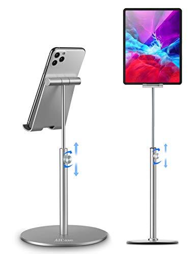 AICase Supporto Tablet/Telefono, Universale Supporto Regolabile Stand Dock per 2018 iPad PRO 10.5/9.7/12.9, iPad Mini 2 3 4, iPad Air, Air 2, iPhone, Samsung Tab,Altri Tablets (4-12.9') (Argento)
