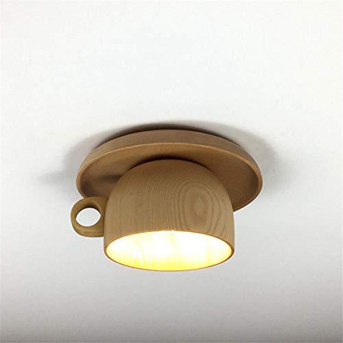 Deckenleuchten Deckenlampe Deckenbeleuchtung Deckenspot Wohnzimmerlampe Nordic Minimalismus Holz Tasse Deckenleuchte Für Esszimmer Flur Wohnzimmer Loft Dekor Down Leuchten Kreative Led Glanz
