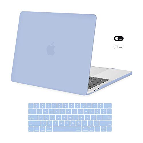 MOSISO MacBook Pro 13 inch Case 2016-2020 Release A2338 M1 A2289 A2251 A2159 A1989 A1706 A1708, Plastic Hard Shell Case&Keyboard Cover&Webcam Cover Compatible with MacBook Pro 13 inch, Serenity Blue