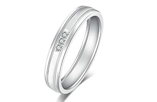 KnSam Bague Femme Fine Diamant 1314 Amour éternel, Or Blanc 18 Carats Élégance Cadeau Noël