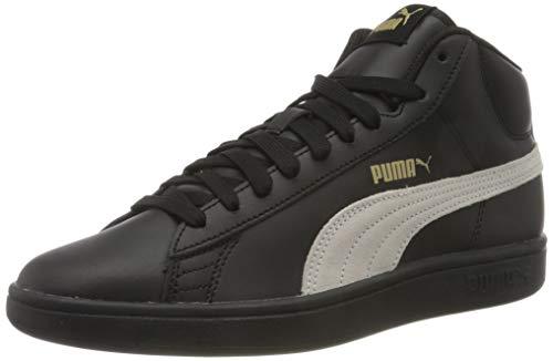 PUMA Smash V2 Mid L, Sneaker Unisex-Adulto, Nero Black White/Gold, 36 EU