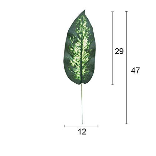 KAERMA Simulation Pflanze Blatt Dieffenbachia 3 Größen Pflanze Wall Zubehör Indoor-Grün (Size : New Evergreen)