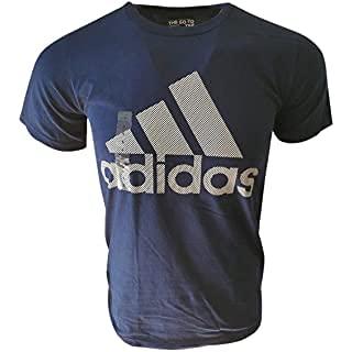adidas mens Go-To Short Sleeve Tee Blue/White/White XX-Large