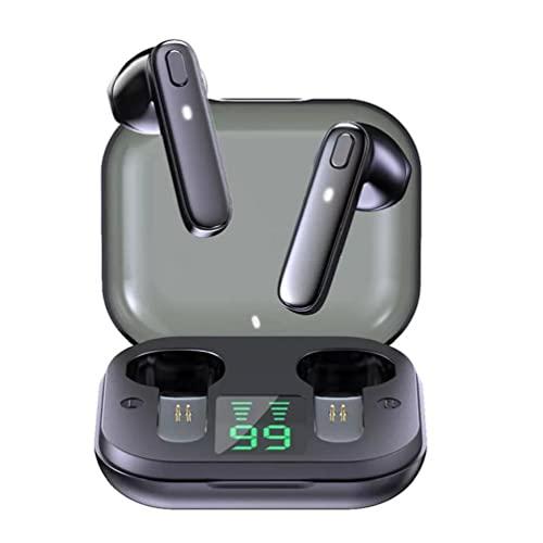 Auriculares impermeables + Auriculares inalámbricos TWS Auriculares Deportes Impermeable Auriculares Profunditos Auriculares con micrófono incorporado Negro