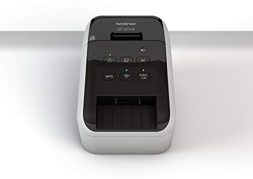 Brother QL810W Stampante per Etichette con Wi-Fi e AirPrint, Stampa a Due Colori Rosso e Nero