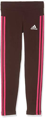 adidas Mädchen Tight 3 Stripes, Night Red/Real Magenta/White, 128, DJ1305