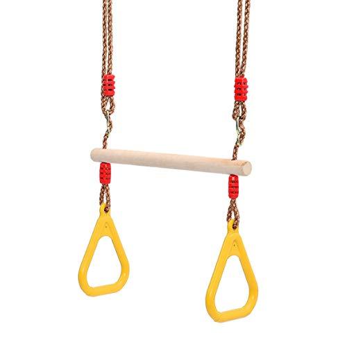 Pennytupu Multifunción Kids Adult Wood Trapeze Swing con anillos de plástico