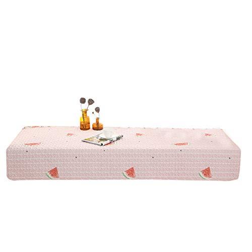 WZR Katoen ademend Bay raam kussen, anti-slip sofa beschermhoezen vloer pure kleur vensterbank mat tatamimat balkondeur slaapkamer