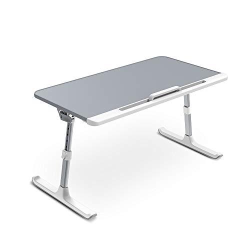 DelongKe Klappbarer Studiertisch Auf Großem Tischbett, Stehtisch Kippen Heben Kleiner Tisch Verstellbarer Laptop Schreibtisch,A