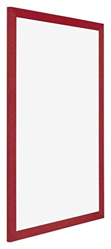 yd. Your Decoration - 50x70 cm - Cadres Photo en MDF avec Verre Plexiglas - Excellente Qualité - Rouge - Anti-Reflet - Cadre Decoration Murale - Mura.