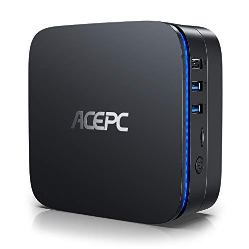Mini PC,Windows 10(64 Bits) Ordinateur de Bureau Intel Celeron Apollo Lake J3455 (jusqu'à 2,3 GHz)[8GB/128GB/Support 2.5' SSD/Double WiFi/Gigabit Ethernet/BT 4.2/4K]