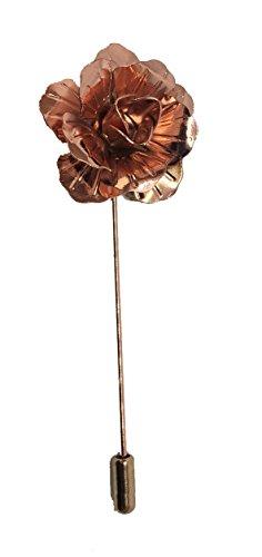 Handgefertigte Rose aus Metall, gold / Anstecknadel Rose, für Knopfloch, Korsage