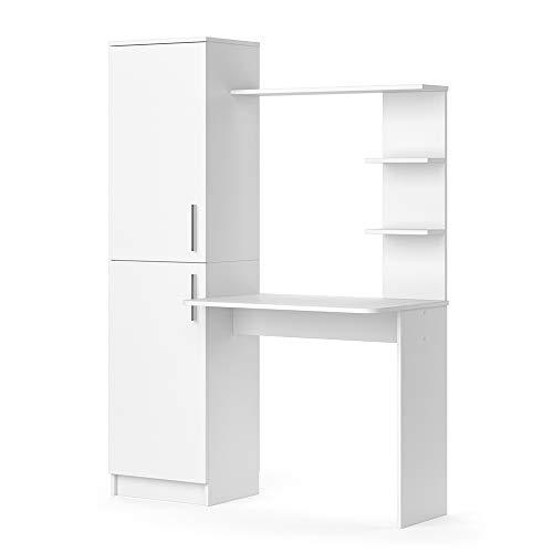 Vicco Arbeitstisch Schreibtisch Schminktisch Tessa weiß Basteltisch mit Schrank